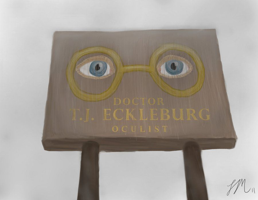 eyes of eckleburg The great gatsby chapter 2 study guide questions and vocab study play  what do the eyes of doctor t j eckleburg's defunct practice represent.