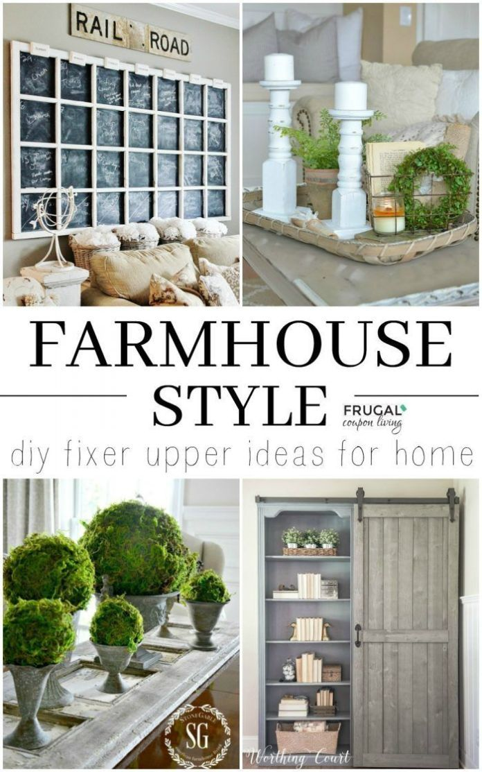 Best Diy Crafts Ideas For Your Home : DIY Fixer Upper Farmhouse Style Ideas on Frugal Coupon Living. Homemade and crea