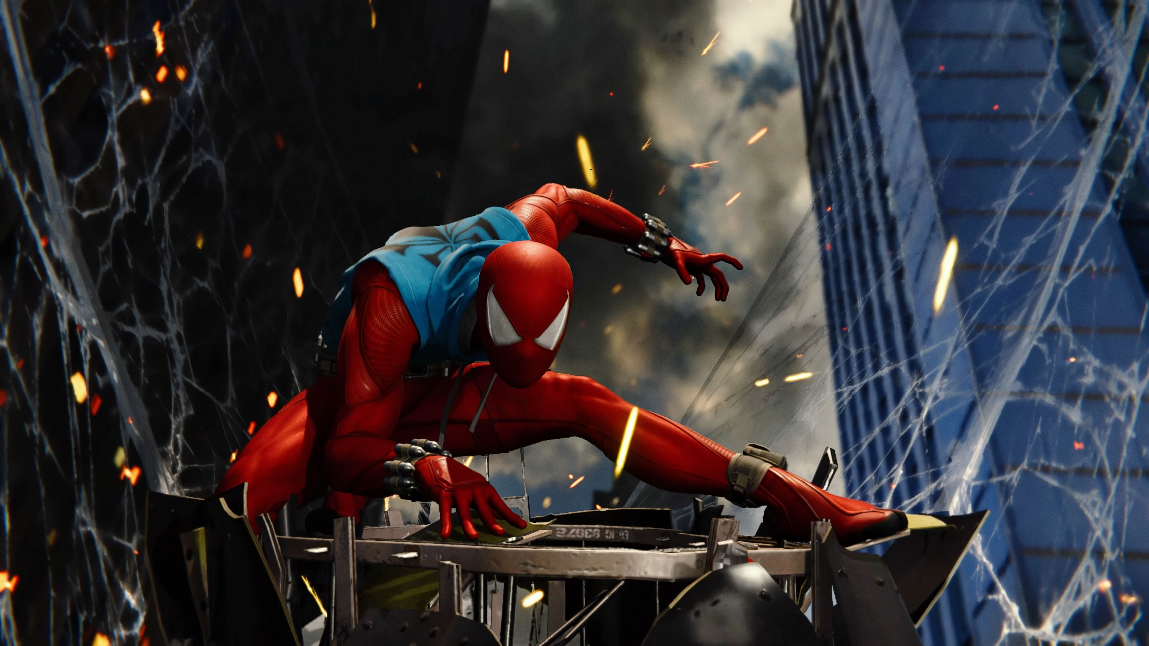 Scarlet Spider Ps4 Game 4k spiderman ps4 wallpapers