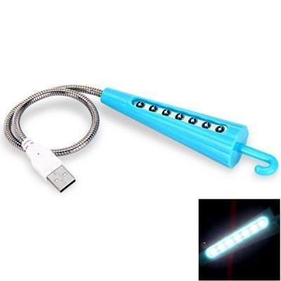 Umbrella Type Designed USB 7-LED White Light Energy Saving Lamp.