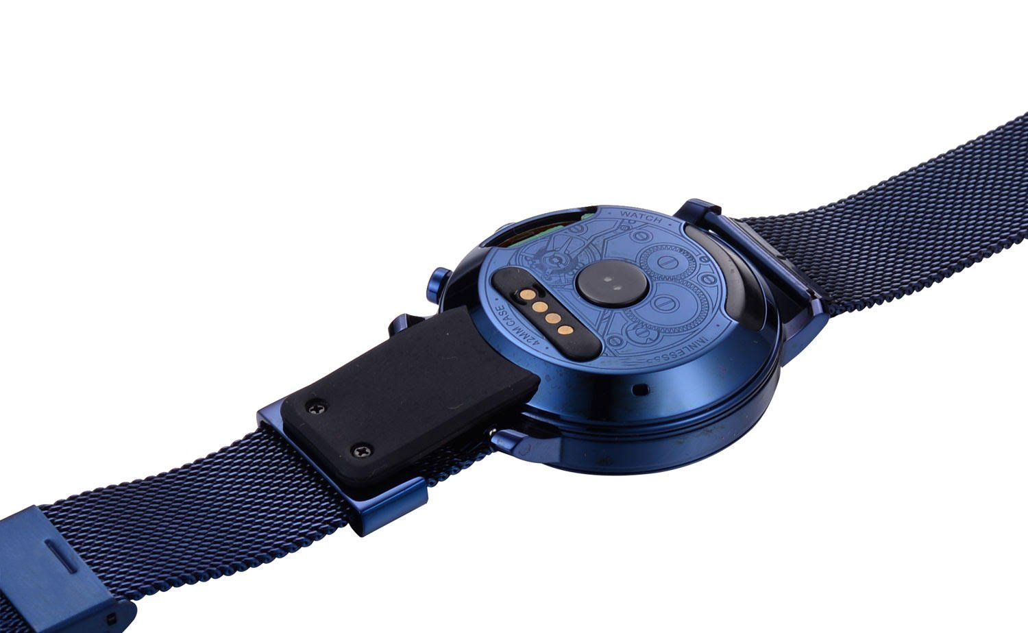 59180087e Sanoxy Blue Sapphire Collection Round Smartwatch Phone with SIM Card Camera  Genuine Leather Wrist Band Blue Steel     Learn more by visiting the image  link.