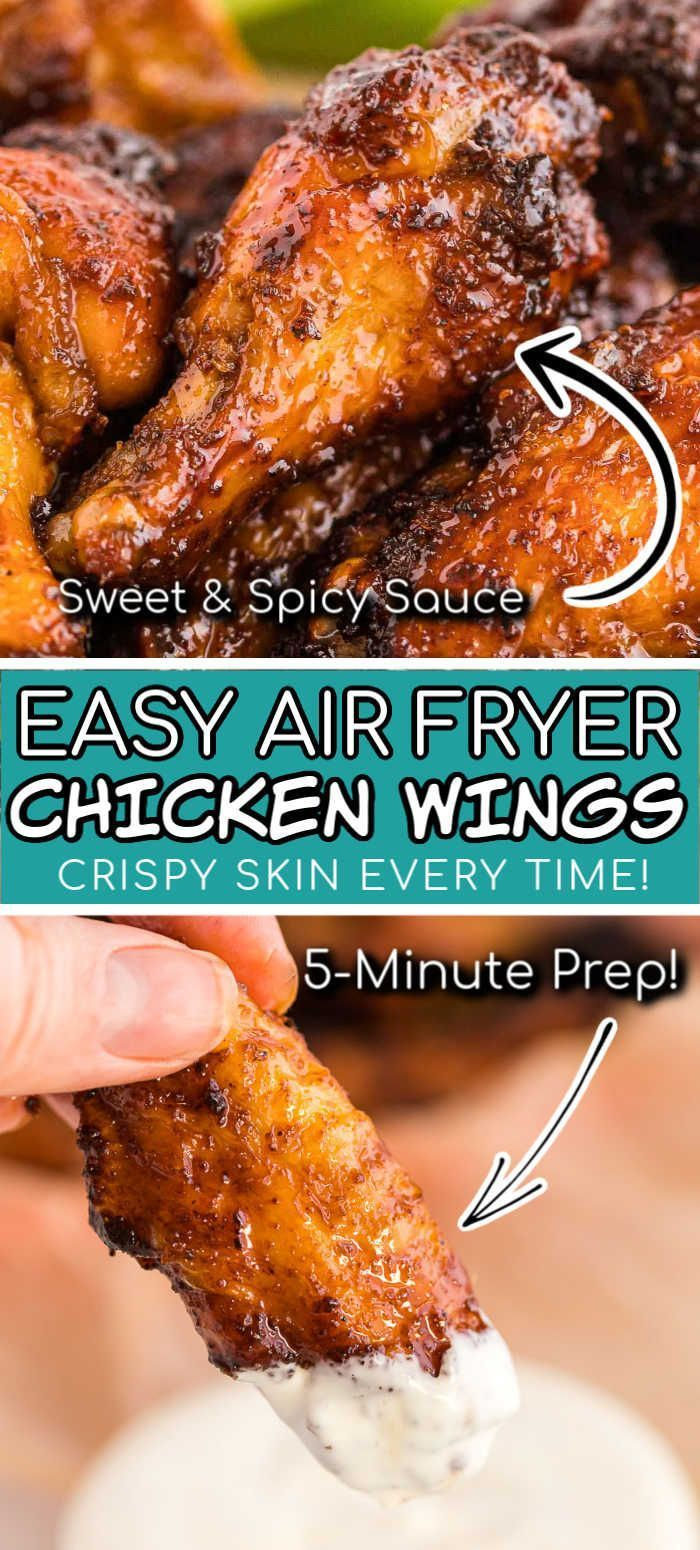 Want perfectly crispy Chicken Wings with your air fryer? You've got to make this recipe! These lip-s