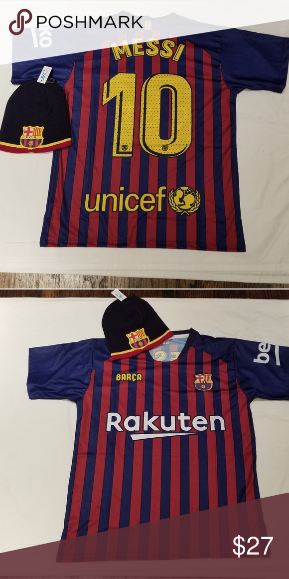 huge discount 4ee5f 24a8c Barcelona Jersey Messi #10 Jersey and beanie Messi #10 ...