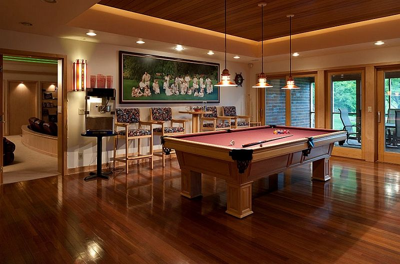 How To Make Your Ceiling Look Higher Pool Table Room Billards Room Game Room Basement