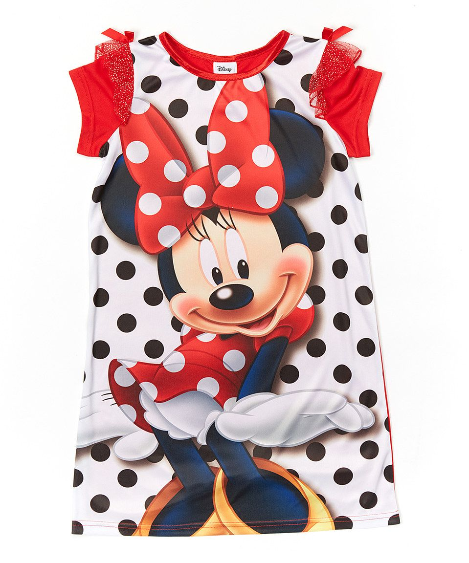 Another great find on #zulily! Red Polka Dot Minnie Mouse Nightgown - Girls by Minnie Mouse #zulilyfinds
