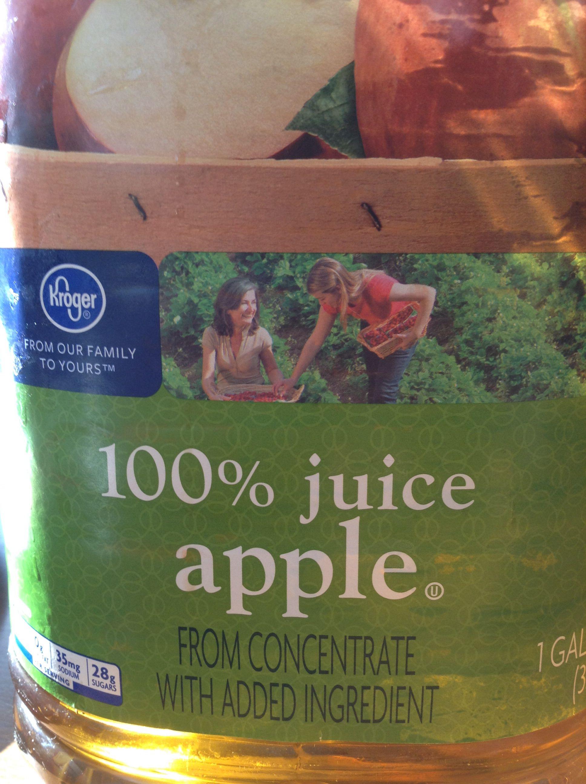 Oh good! It's 100% juice apple...lol