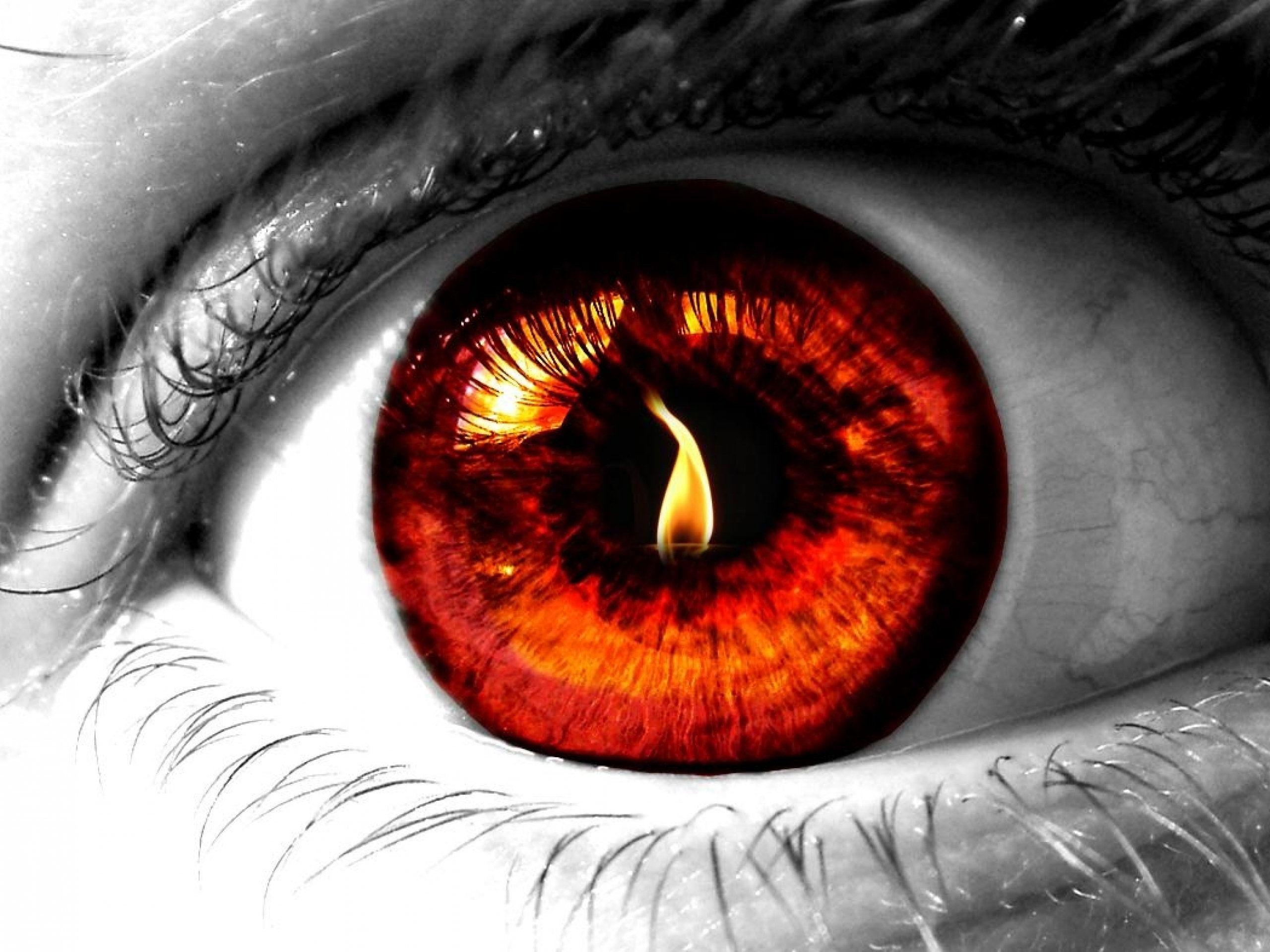 Fire Eye Eyes Wallpaper Eye Art Red Eyes