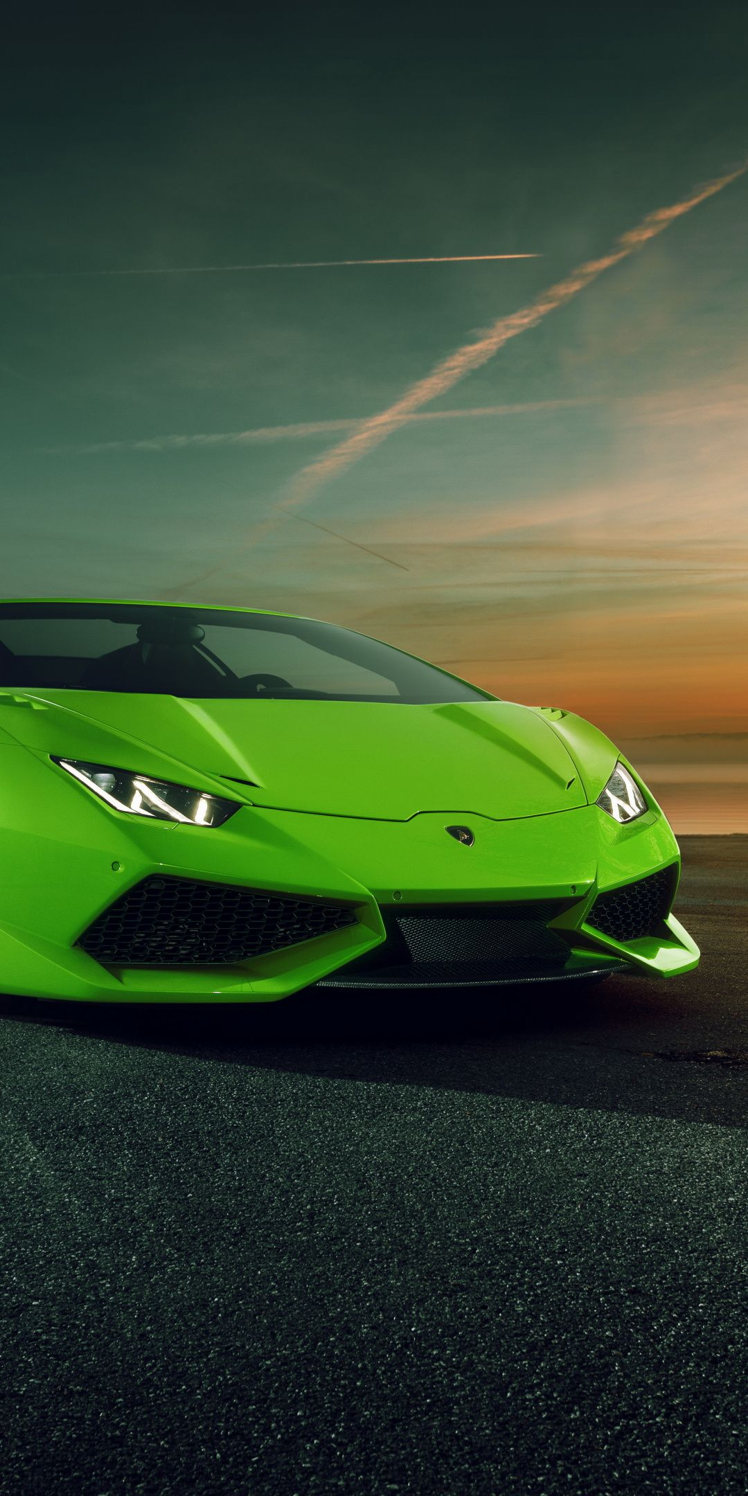Novitec Torado Lamborghini Huracán, green, sports car, 1080×2160 wallpaper