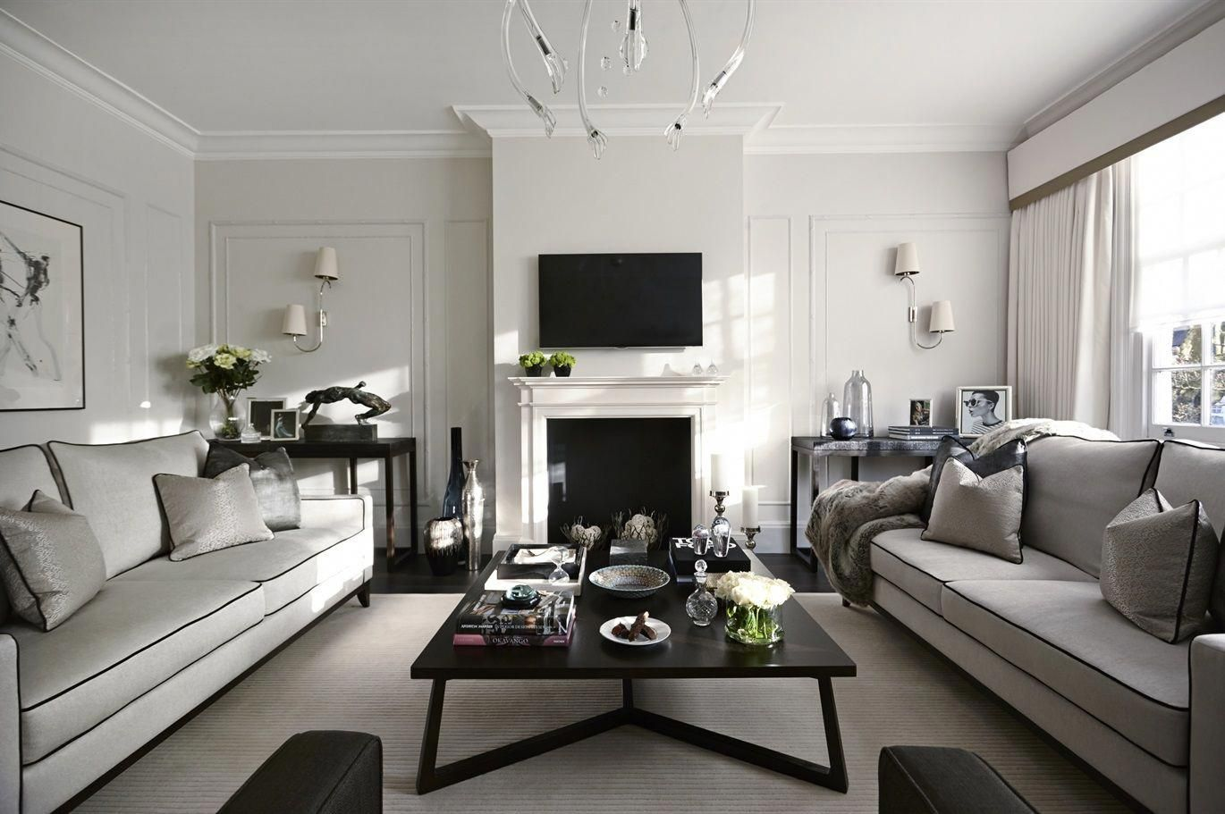 Formal Living Room With Grey Tones From The Sofa And Chair Company Luxurylivingroom Formal Living Room Designs Luxury Living Room Formal Living Rooms