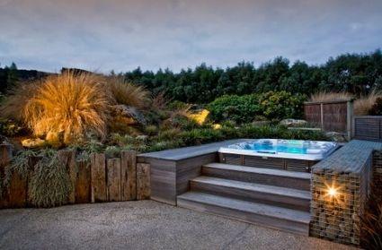 Fancy a spa?   Garden landscape design, Small garden ...