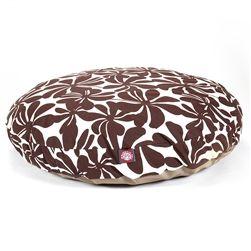 Large Round Pet Bed Chocolate Plantation | Majestic Pet