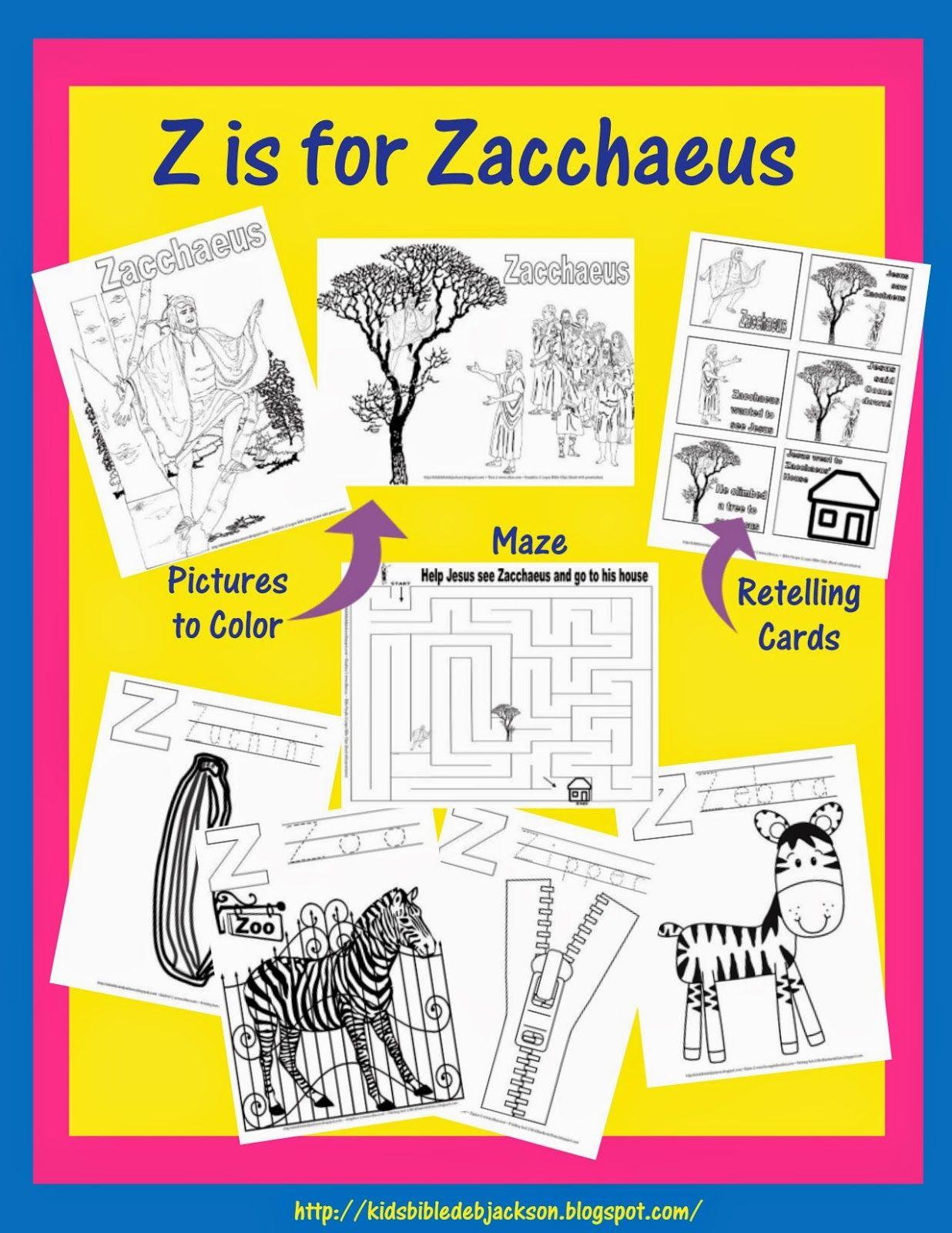 Alphabet: Z is for Zacchaeus | Z ... is for Alphabet | Pinterest