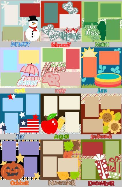 Scrapbook Page Kit or Premade Layout 12X12 Scrapbo