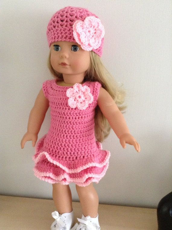 PDF Crochet pattern for 18 inch doll American Girl Doll or | ropa de ...