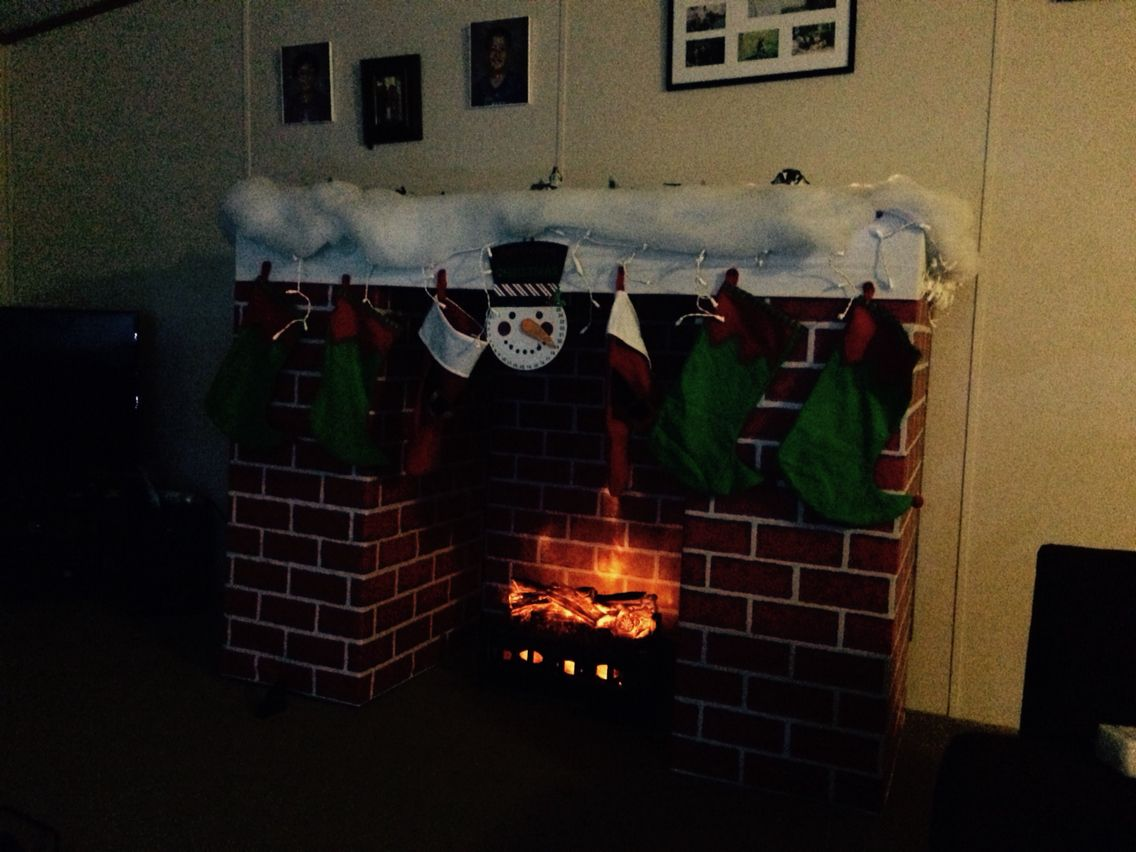My homemade fireplace with
