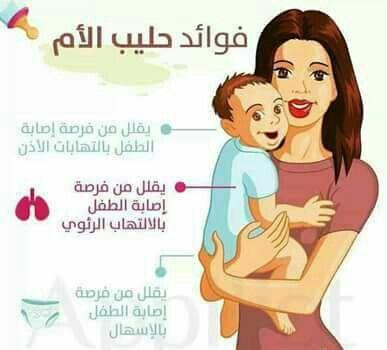 حليب الام Baby Information New Baby Products Baby Education