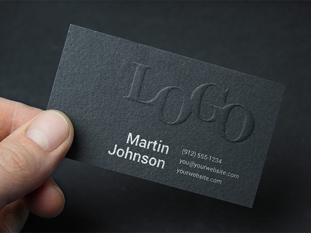 Free Embossed Business Card Mockup Free Mockup Business Card Mock Up Embossed Business Cards Business Cards Mockup Psd