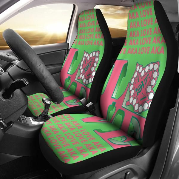 Alpha Kappa Alpha Car Seat Cover
