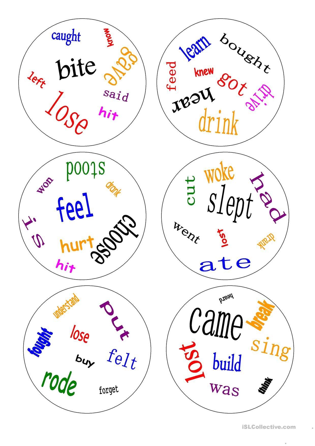 Pin By זהר כהן On Board Games Irregular Verbs Grammar Games Verb Worksheets [ 1752 x 1239 Pixel ]