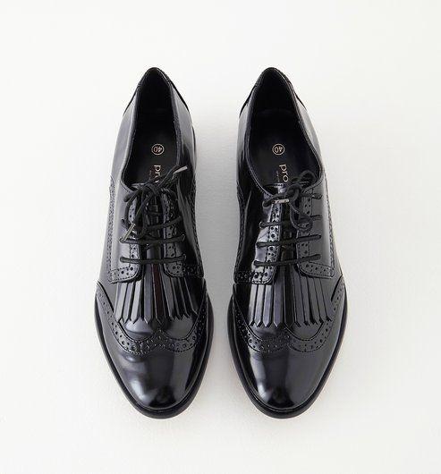 Derby A Bout Fleuri Femme Noir Promod Chaussures Pinterest
