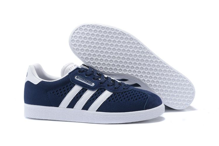 e09573d892b0b Men s NEIGHBORHOOD x Adidas Gazelle Shoes Midnight Navy Dark Blue White