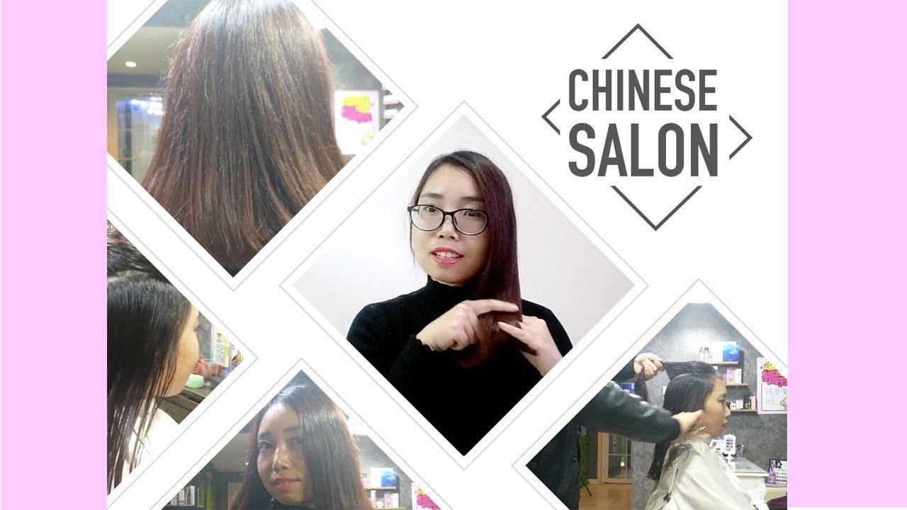 Get My Hair Done In Chinese Hair Salon Hair Washhaircuthair Dry
