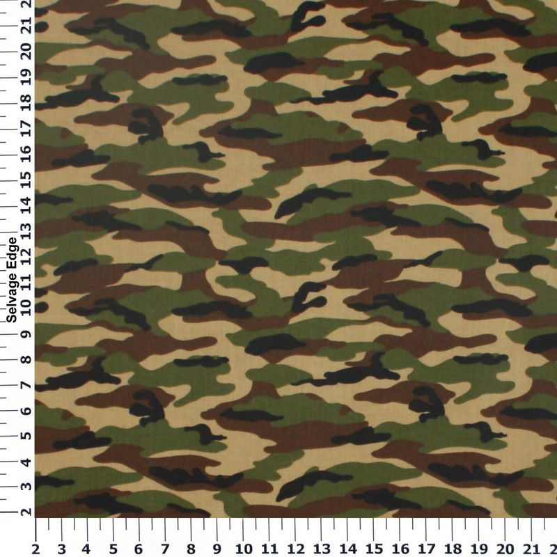 Boy Specific Novelty - Brown and Green Camouflage Cotton Fabric ...