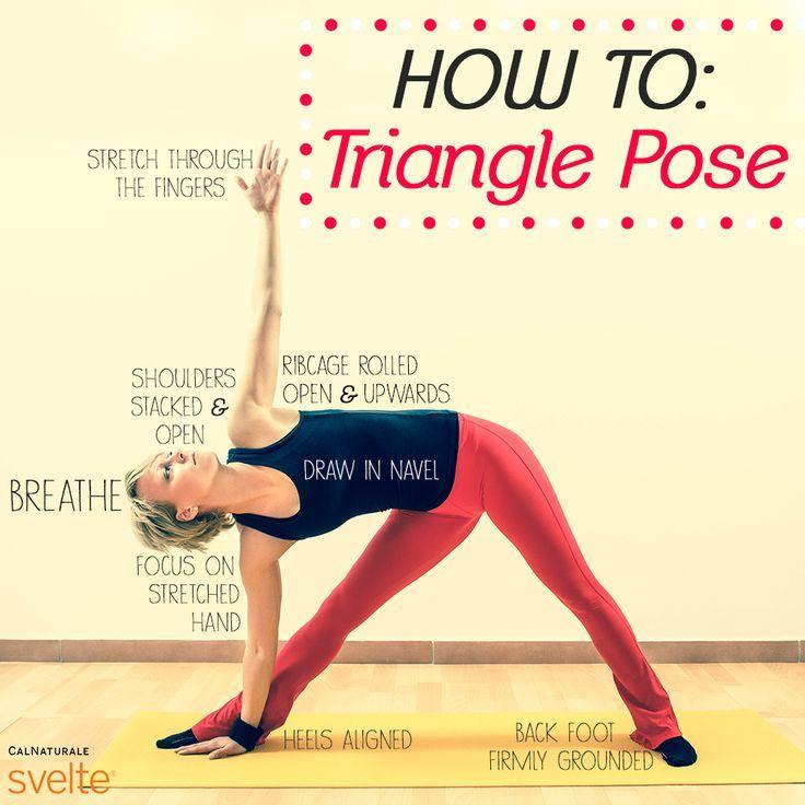 Triangle Yoga Pose Triangle Pose Yoga Poses Basic Yoga