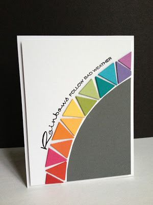Rainbows Follow Bad Weather Inspiration Card Love This