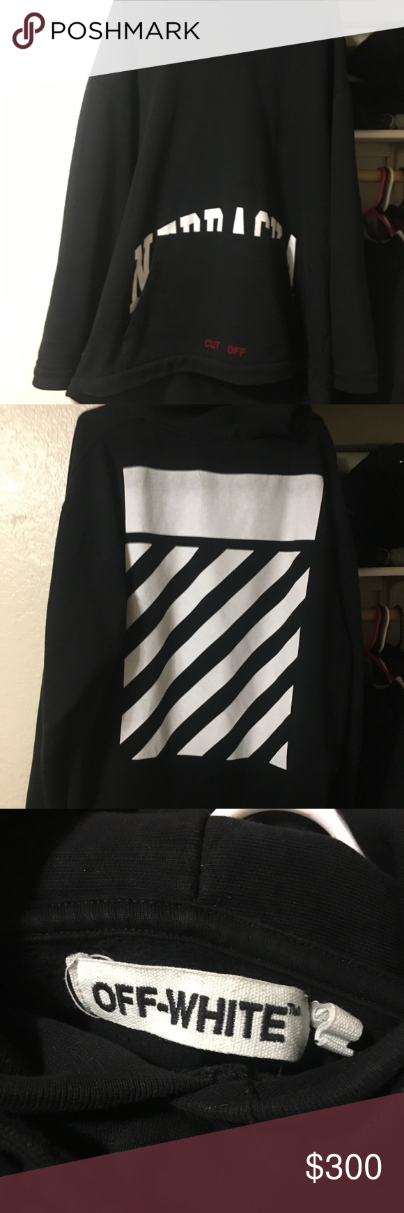 Off White Ss13 Sweatshirt Ss13 Great Condition Pre Owned Has Been Washed Once Authentic Heads Up The Sweatshirt Shirt Sweatshirts Sweatshirts Hoodie [ 1740 x 580 Pixel ]