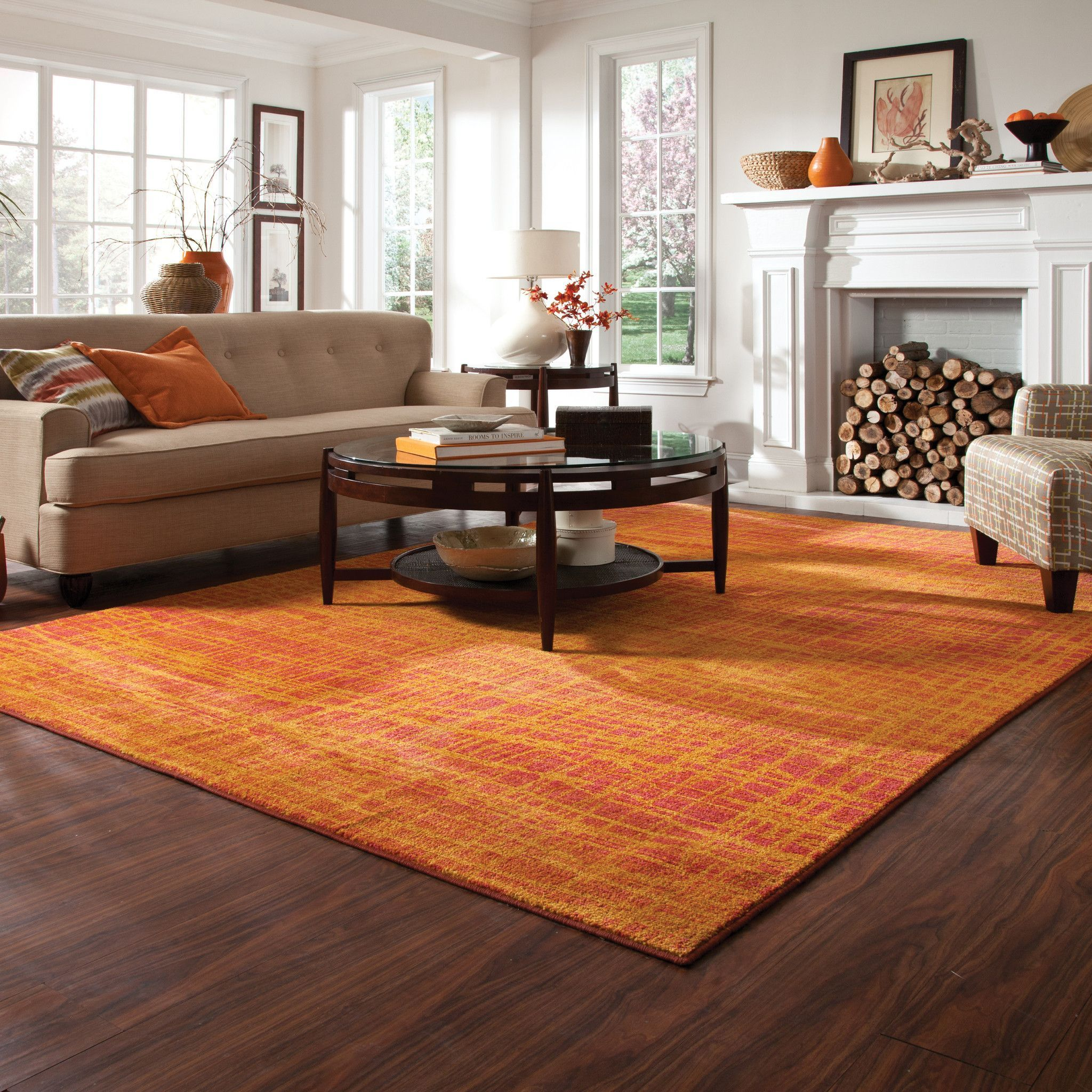 Expressions Orange Yellow Abstract Rug Orange Rugs Yellow Area Rugs Area Rugs