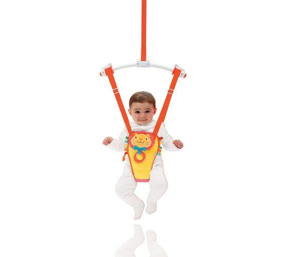 Munchkin Baby Door Swing Jump About Bouncer Teether Rings Crinkle Mane Fun Toy