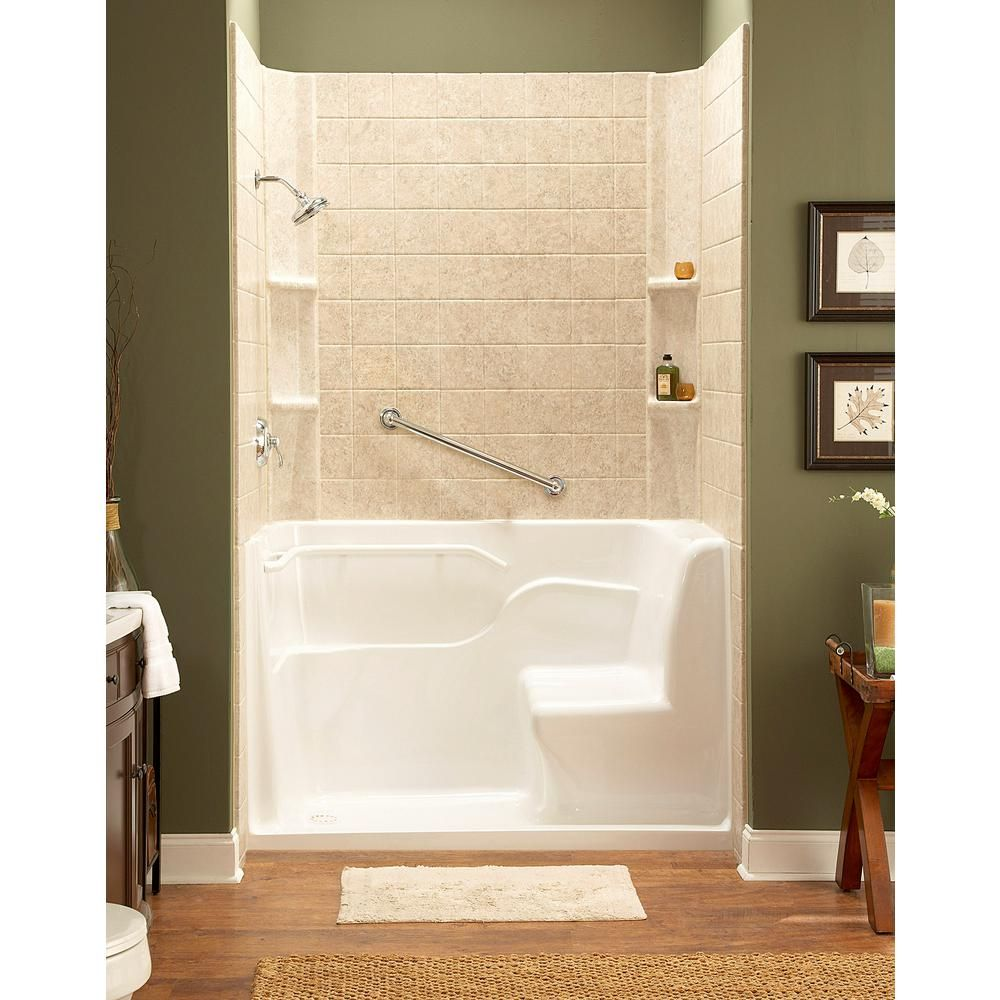 American Standard 59 5 In X 30 In X 37 In Seated Safety Shower