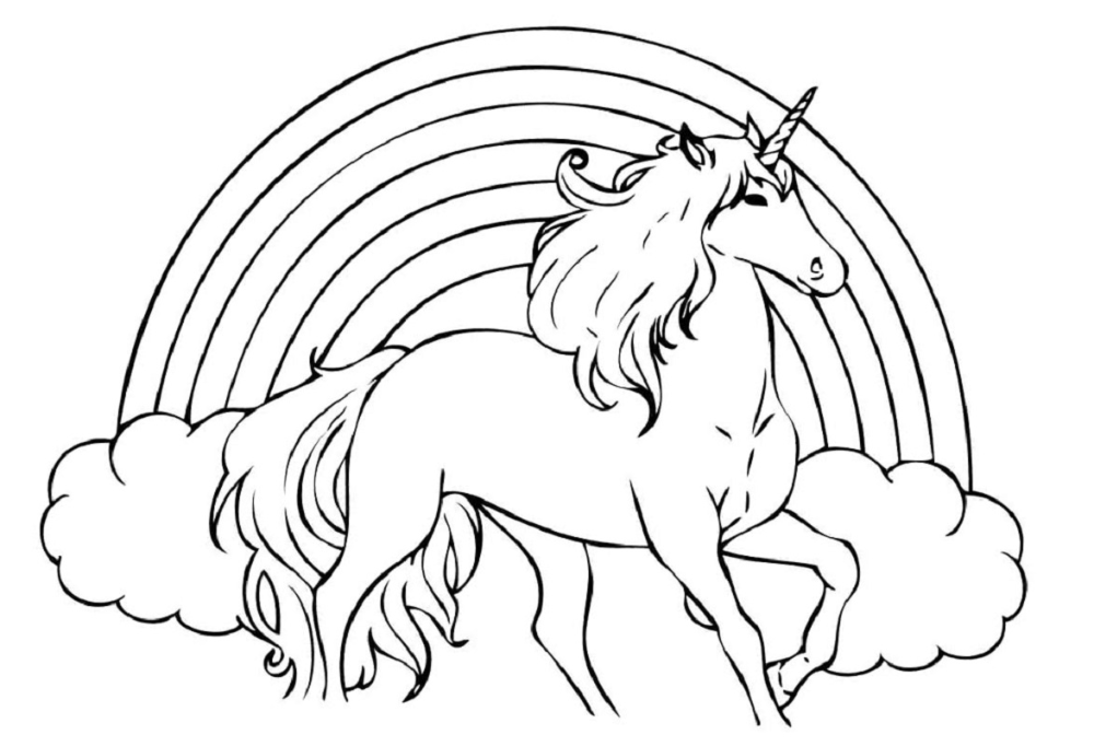 Unicorn Rainbow Coloring Pages Usable Educative Printable Unicorn Coloring Pages Animal Coloring Pages Avengers Coloring Pages