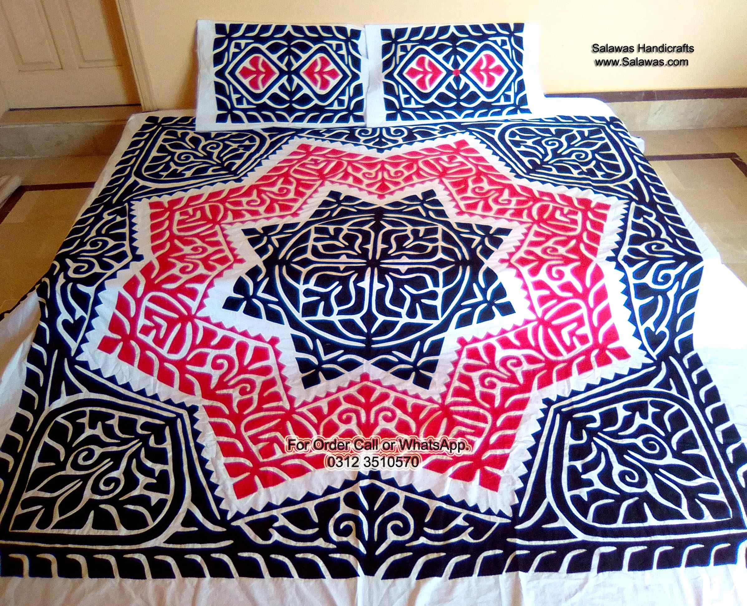 Best collections of applique bed sheets for sale in pakistan best