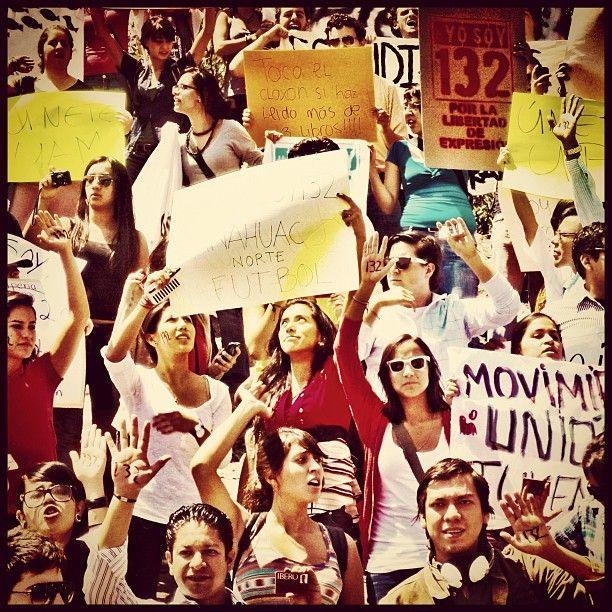 ¡No impondrán presidente!, uno de los reclamos en la #MarchaYoSoy132 en México, LIBERTAD DE EXPRESIÓN, queremos transparencia en la información de televisoras para elección de presidente!