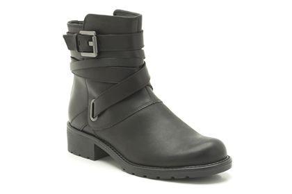 Clarks Orinoco Sash - Zwart Leer - Dameslaarzen casual | Clarks #clarks #bikerboots #boots