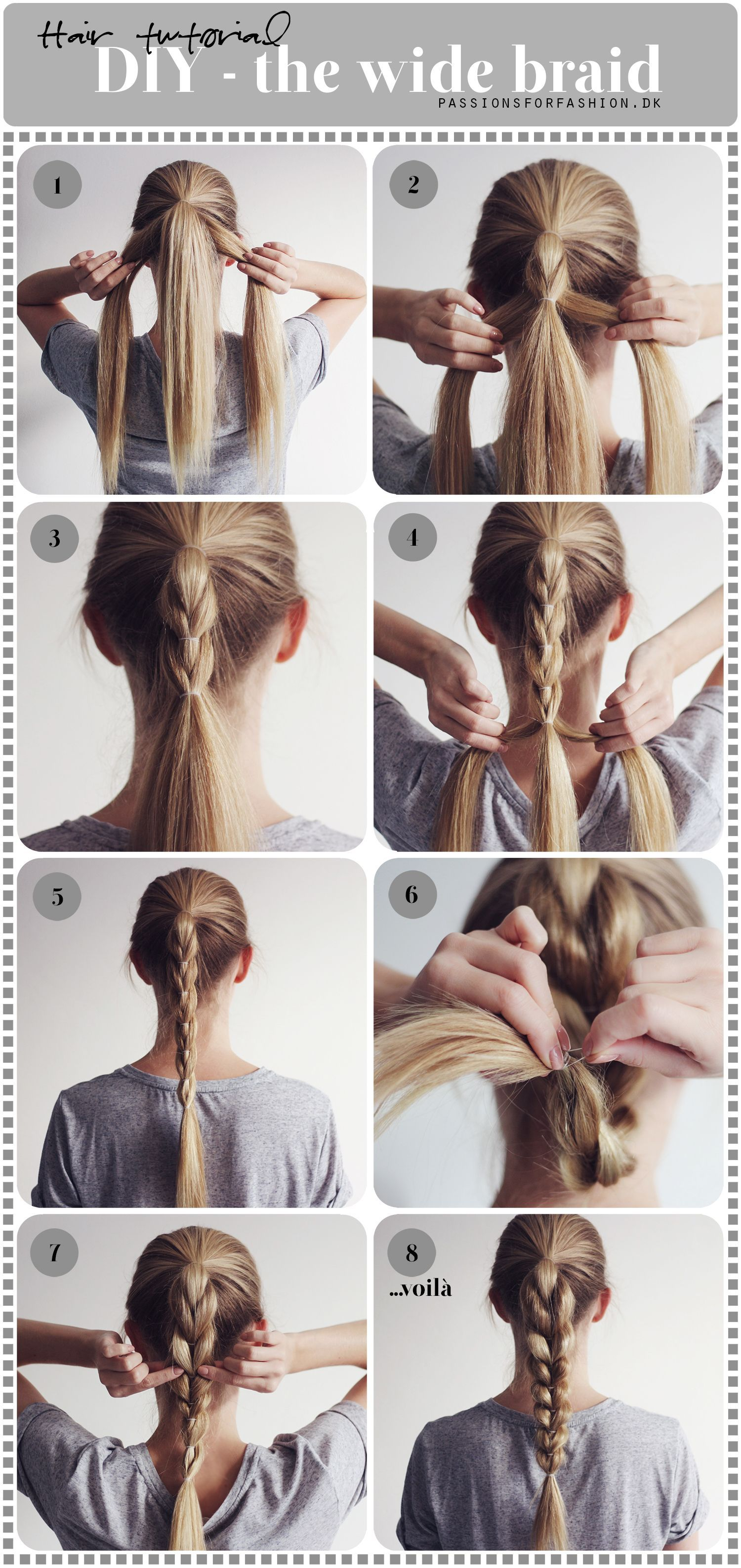 Diy The Wide Braid Christina Dueholm Coiffure Facile Coiffure Tuto Coiffure