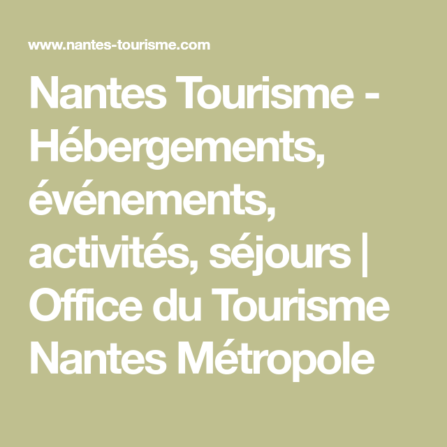 office de tourisme nantes metropole