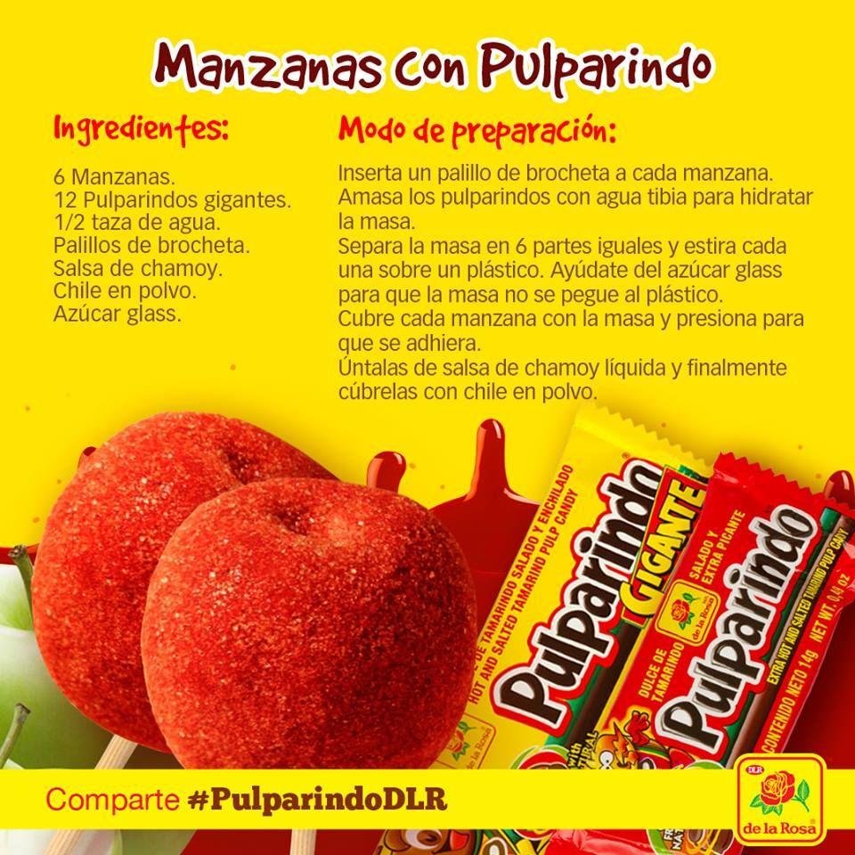 Manzanas con #Pulparindo   Manzanas con chamoy receta, Recetas con manzana,  Manzanas con chamoy