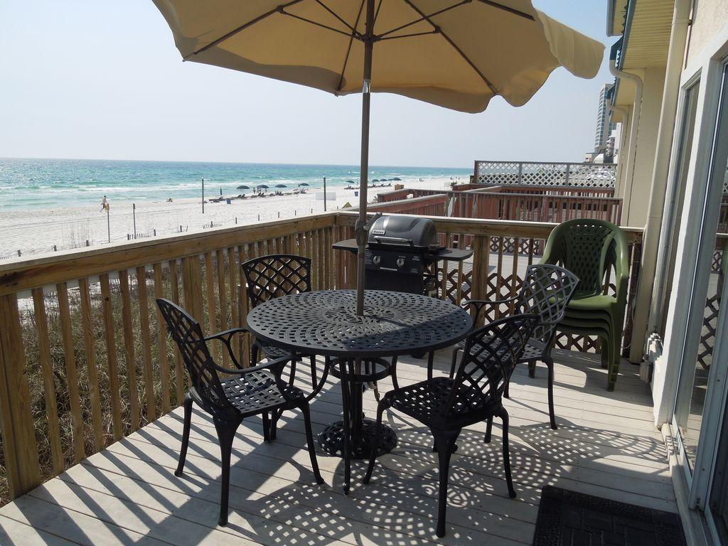 Beachside Bliss Beautiful Beachfront 3br Townhome Not A Condo West Panama City Beach Panama City Beach Townhouse Beachfront