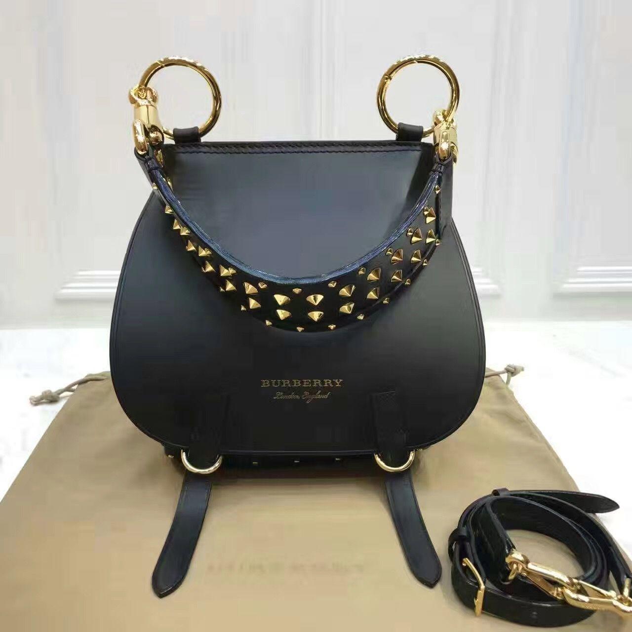 Authentic Quality 1 1 Mirror Replica Burberry Bridle Bag Black 40459761 b1dfd4557d7a0