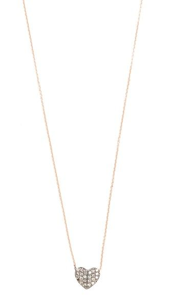 KISMET BY MILKA 14K ROSE GOLD TINY FOLDED HEART NECKLACE