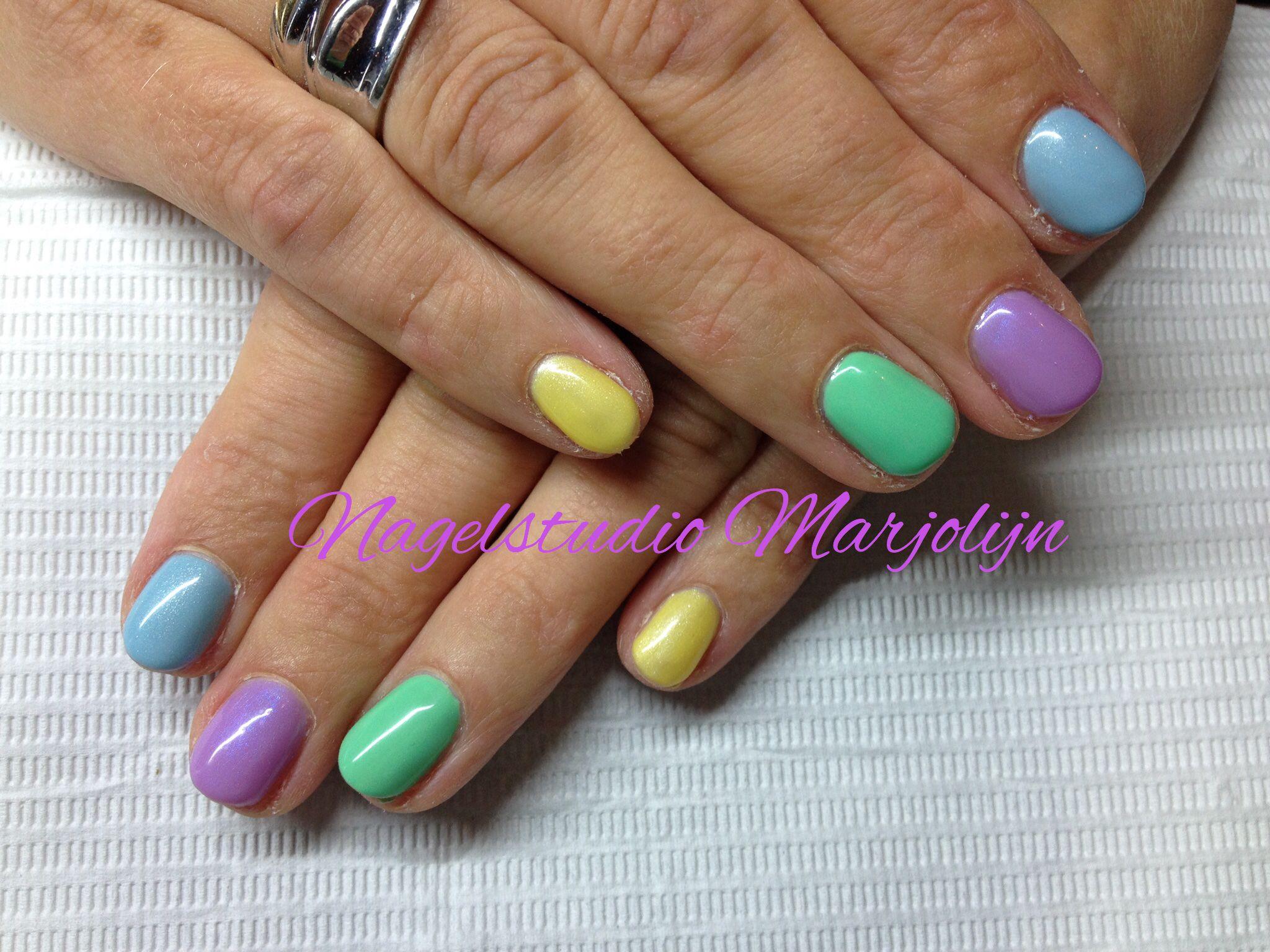 Full color nail art - Pastel Spring Nails Nailart Gel Fullcolor Nagelstudiomar