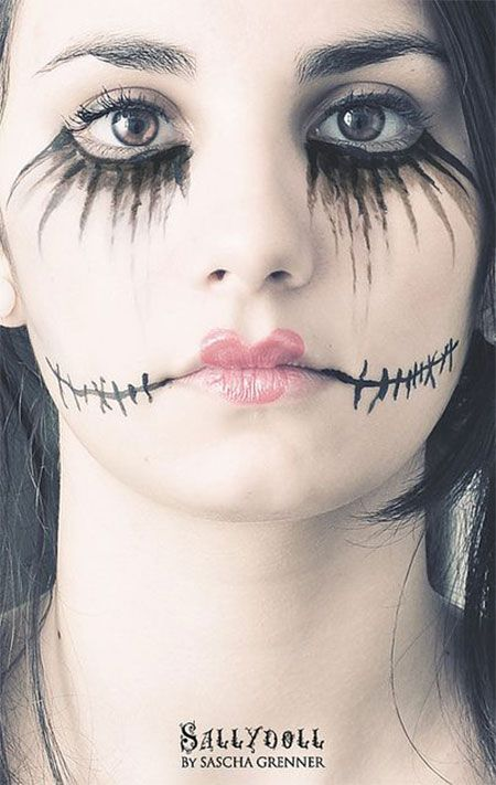 15 scary halloween mouth teeth half face makeup looks ideas 2016 18