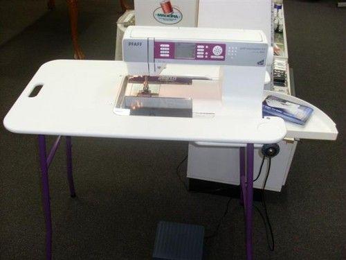 Mesa portatil para coser y acolchar sewezi ordenar e for Mesa para maquina de coser