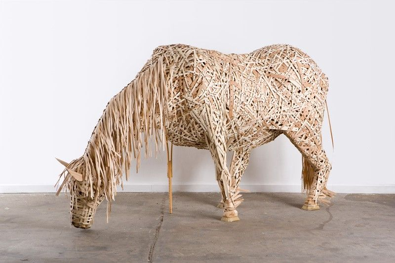 wood shavings/ reed = Horse For more inspiration follow me