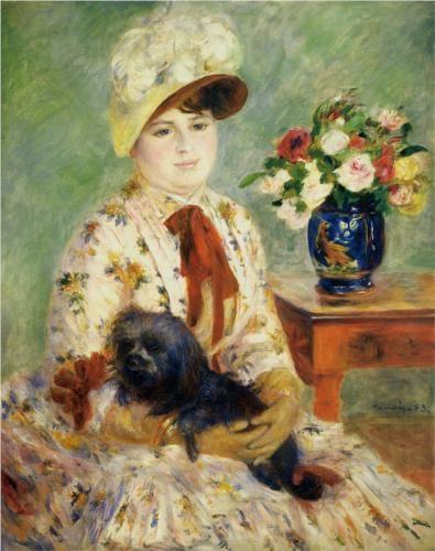 Pierre-Auguste Renoir : Madame Hagan, 1883. National gallery of Art, Washington, DC.