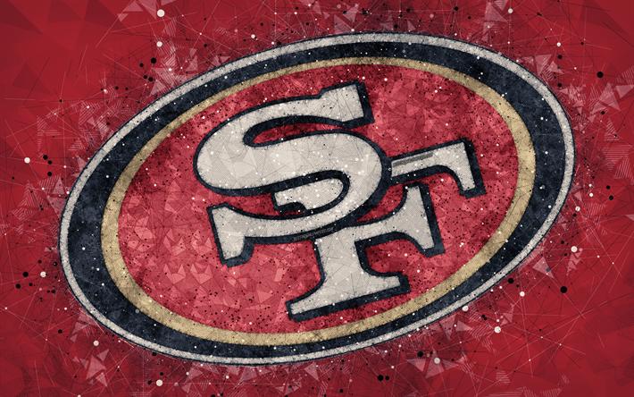 Download wallpapers San Francisco 49ers, 4k, logo