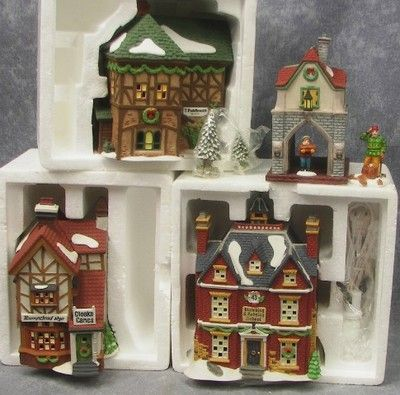 6 Dept 56 DICKENS VILLAGE SERIES Lot of 3 Buildings Plus 3 Accessory Items